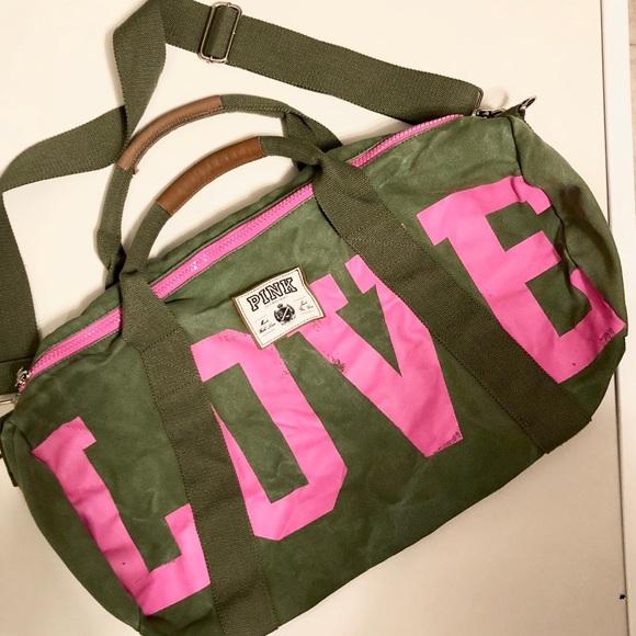 8ba1b57c3e HUGE PINK By Victoria s Secret Gym Duffle Bag. M 5a52dbcf61ca10f5b200f56d